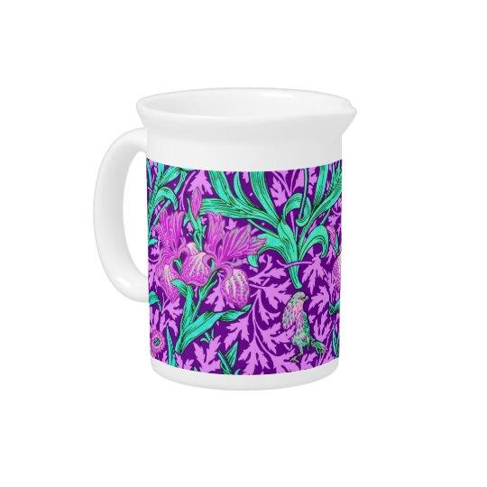William Morris Irises, Amethyst Purple Pitcher