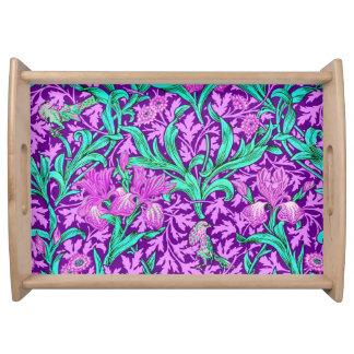 William Morris Irises, Amethyst Purple Serving Tray