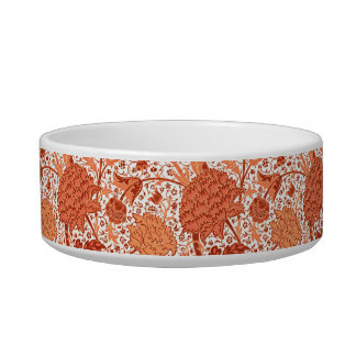 William Morris Jacobean Floral, Coral Orange Bowl