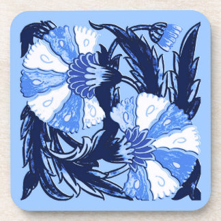 William Morris Jacobean, Navy and Light Blue Coaster