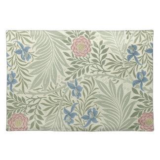 William Morris Larkspur Floral Pattern Placemats