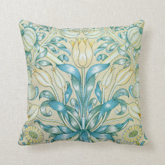 William Morris Lily and Pomegranate Floral Cushion