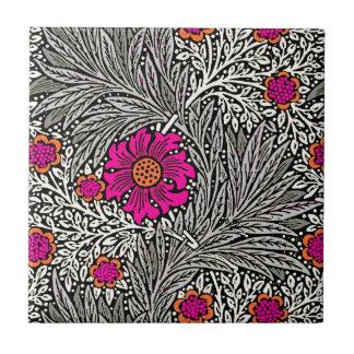 William Morris Marigold, Gray / Grey, and White Ceramic Tile