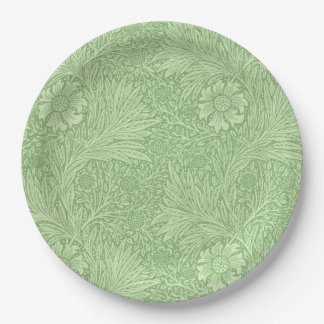 William Morris Marigold (Green) Pattern Paper Plate