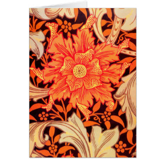 William Morris Marigold Vintage Floral Card