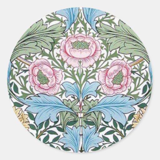 William Morris Myrtle Chintz Pattern Stickers