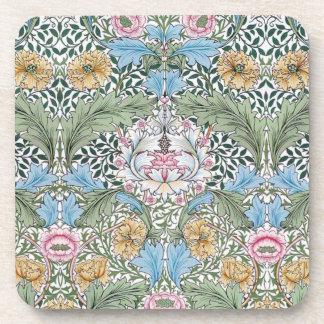William Morris Myrtle Pattern Cork Coaster Set