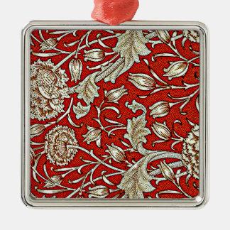 William Morris pattern, Wild Tulip Metal Ornament