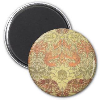 William Morris Peacock and Dragon Pattern Fridge Magnets
