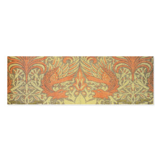 William Morris Peacock and Dragon Pattern Pack Of Skinny Business Cards