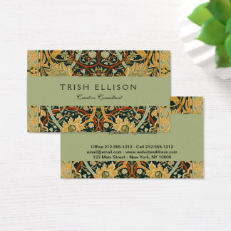 William Morris Persian Carpet Art Print Custom Business Card