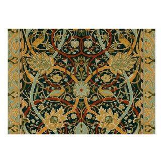 William Morris Persian Carpet Art Print Design