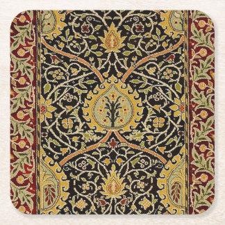 William Morris Persian Carpet Art Print Design Square Paper Coaster