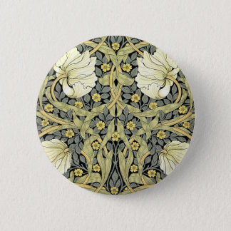 William Morris Pimpernel Art Floral Design 6 Cm Round Badge