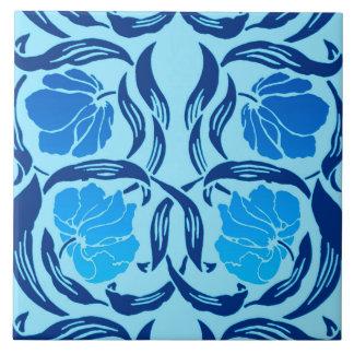 William Morris Pimpernel, Denim & Light Blue Large Square Tile