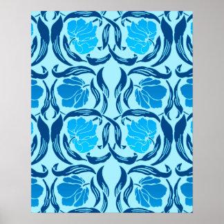 William Morris Pimpernel, Denim & Light Blue Poster