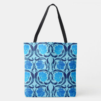 William Morris Pimpernel, Denim & Light Blue Tote Bag