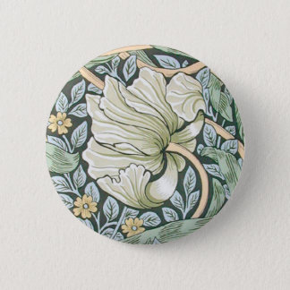 William Morris Pimpernel Floral Design 6 Cm Round Badge
