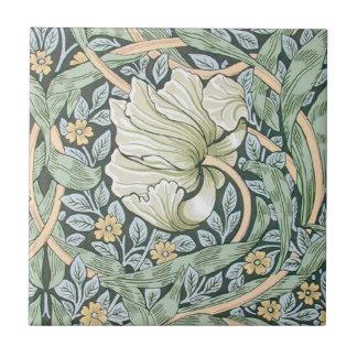 William Morris Pimpernel Floral Design Small Square Tile