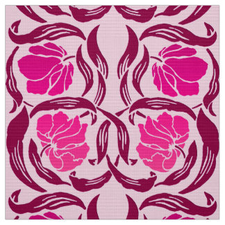 William Morris Pimpernel, Fuchsia & Light Pink Fabric