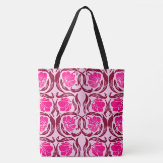 William Morris Pimpernel, Fuchsia & Light Pink Tote Bag