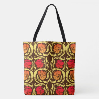 William Morris Pimpernel, Rust Orange and Brown Tote Bag