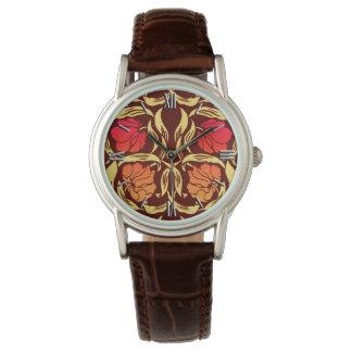 William Morris Pimpernel, Rust Orange and Brown Watch