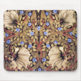 William Morris Pimpernel Vintage Floral Mouse Pad