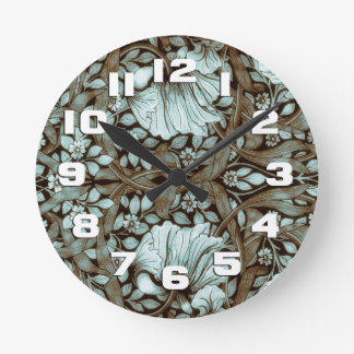 William Morris Pimpernel Vintage Floral Wall Clock