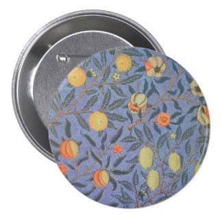 William Morris Pomegranate Floral Vintage Fine Art 7.5 Cm Round Badge
