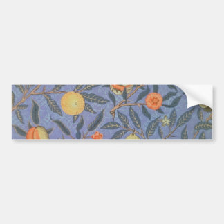 William Morris Pomegranate Floral Vintage Fine Art Bumper Sticker