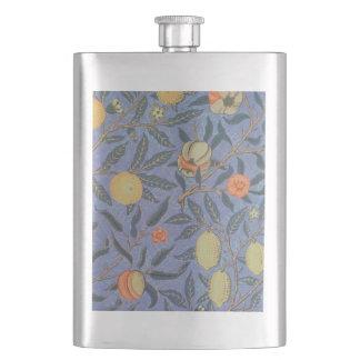 William Morris Pomegranate Floral Vintage Fine Art Hip Flask