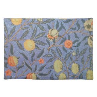William Morris Pomegranate Floral Vintage Fine Art Place Mat