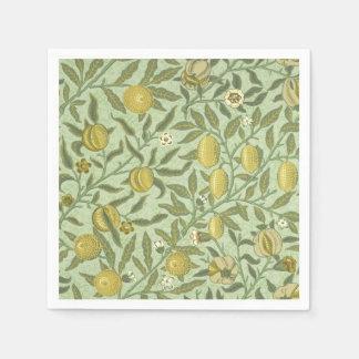 William Morris Pomegranate Fruit Design Disposable Napkins