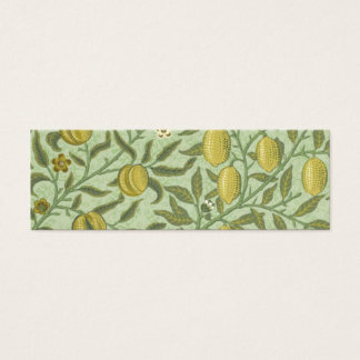 William Morris Pomegranate Fruit Design Mini Business Card