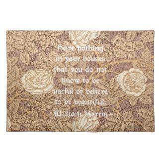 William Morris Quotation Placemats
