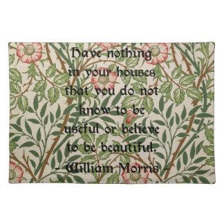William Morris Quote Placemats
