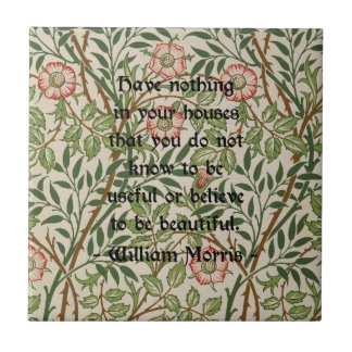 William Morris Quote Small Square Tile