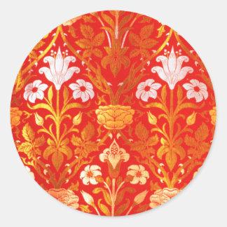 William Morris Rose and Lily Classic Round Sticker