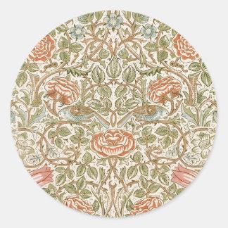 William Morris Rose Classic Round Sticker