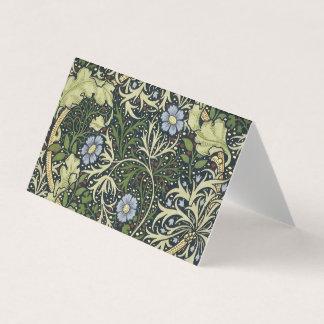 William Morris Seaweed Pattern Floral Vintage Art Business Card