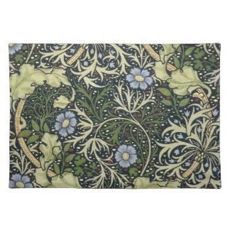 William Morris Seaweed Pattern Floral Vintage Art Place Mat