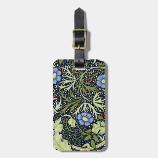 William Morris Seaweed Wallpaper Pattern Luggage Tag