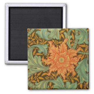 William Morris Single Stem Pattern Art Nouveau Magnet