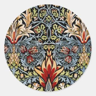 William Morris Snakeshead Floral Design Sticker