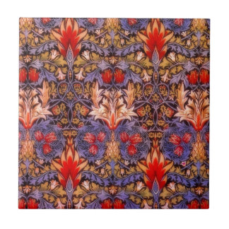 William Morris Snakeshead Vintage Floral Ceramic Tile