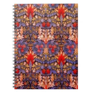 William Morris Snakeshead Vintage Floral Spiral Notebook