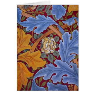 William Morris St. James Vintage Floral Design Card