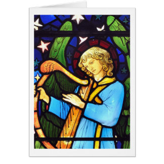 William Morris stained glass Christmas Card