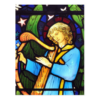William Morris stained glass panel Postcard